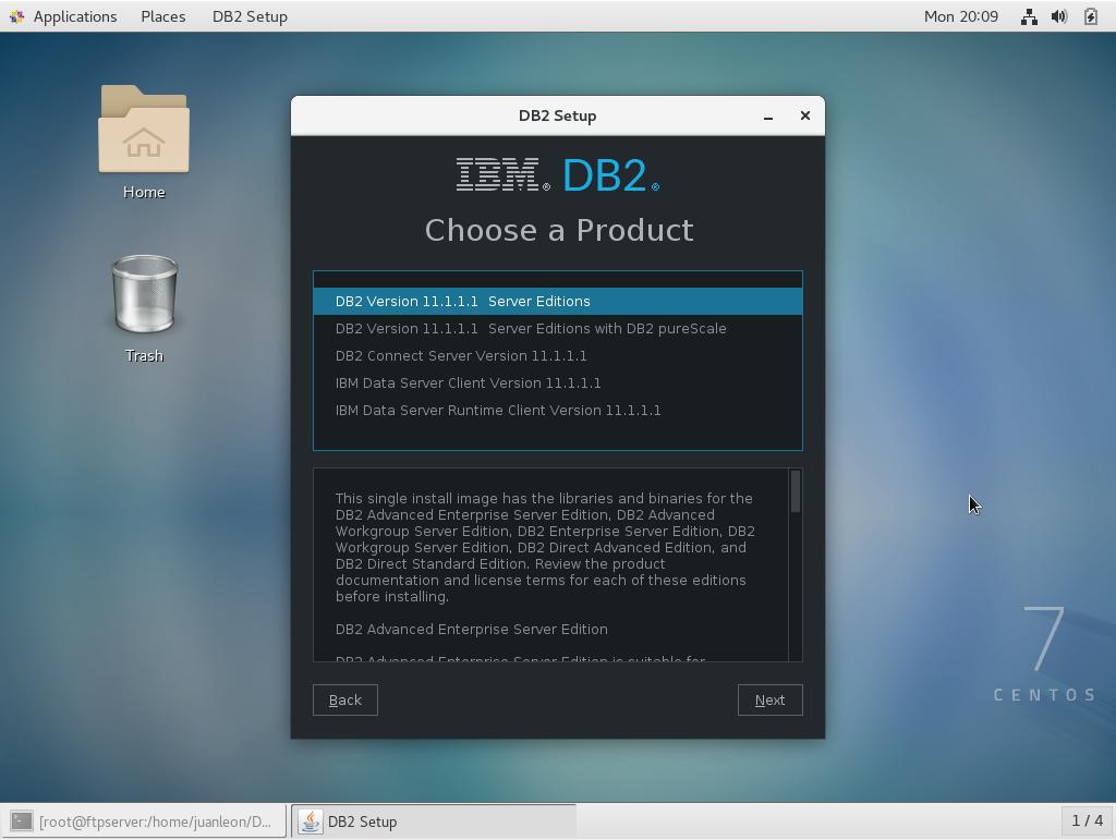 Soluciones Informáticas León: Installation of DB2 11 in CentOS 7